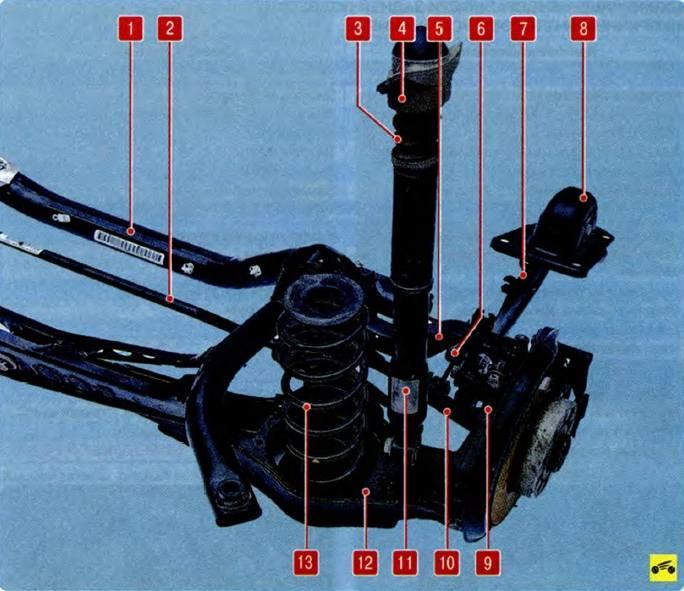 детали задней подвески шкоды октавия а5