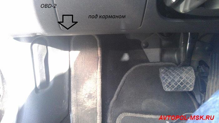 BMW e39 где находится диагностический разъем