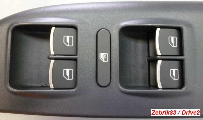кнопки с хромом на двери шкода а5